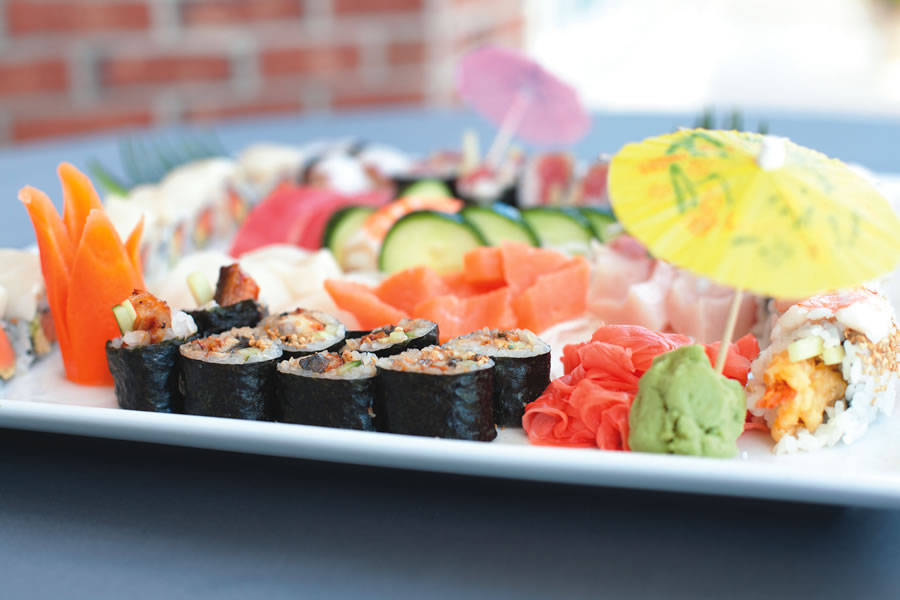 Chef Michael Ha of Reunion Resort often uses white dishes to highlight the vibrant colors of his sushi.